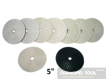 "5"" White Wet & Dry Diamond Polishing Pads"