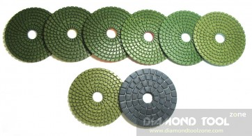 "4"" Premium wet diamond polishing pads"