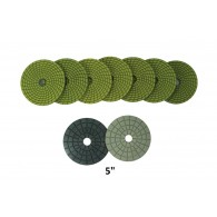 "5"" Wet diamond polishing pads"