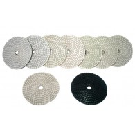"4"" White Wet & Dry Diamond Polishing Pads"